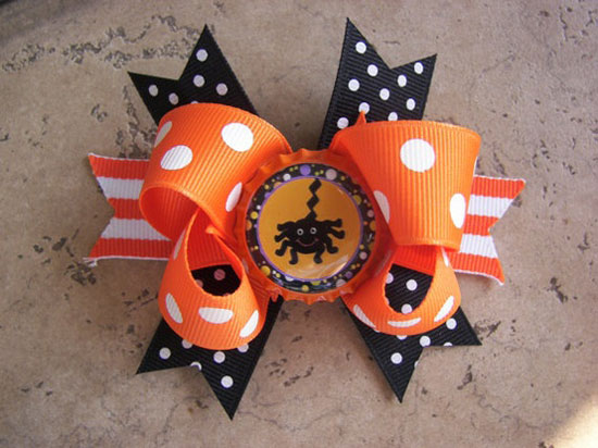 30 Best Scary Unique Halloween Hair Bows Clips 2012 For Girls Kids 3 30 Best, Scary & Unique Halloween Hair Bows & Clips 2012 For Girls & Kids