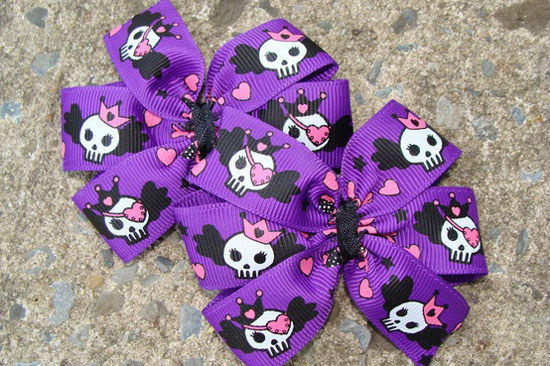 30 Best Scary Unique Halloween Hair Bows Clips 2012 For Girls Kids 7 30 Best, Scary & Unique Halloween Hair Bows & Clips 2012 For Girls & Kids