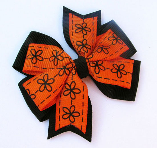 30 Best Scary Unique Halloween Hair Bows Clips 2012 For Girls Kids 9 30 Best, Scary & Unique Halloween Hair Bows & Clips 2012 For Girls & Kids