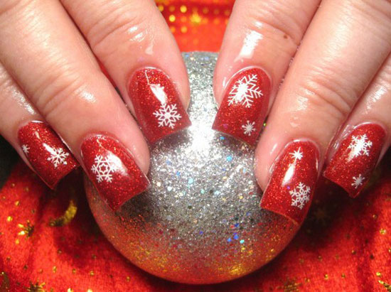 15 best cute amazing christmas nail art designs ideas pictures 2012 3