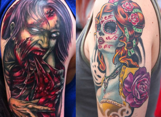 15  Best Unique &amp Scary Halloween Tattoo Designs Images Galleries