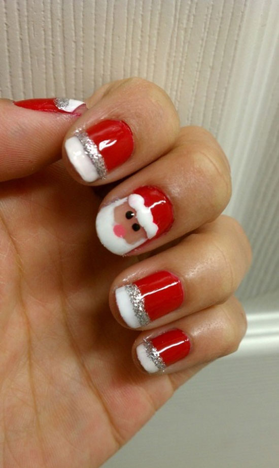 15 Simple & Easy Christmas Nail Art Designs & Ideas 2012