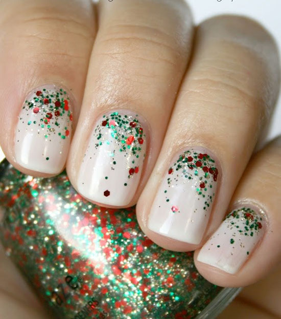 15 Simple Easy Christmas Nail Art Designs Ideas 2012 For Beginners Learners 3 15 Simple & Easy Christmas Nail Art Designs & Ideas 2012 For Beginners & Learners