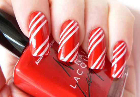 15 Simple Easy Christmas Nail Art Designs Ideas 2012 For Beginners Learners 4 15 Simple & Easy Christmas Nail Art Designs & Ideas 2012 For Beginners & Learners