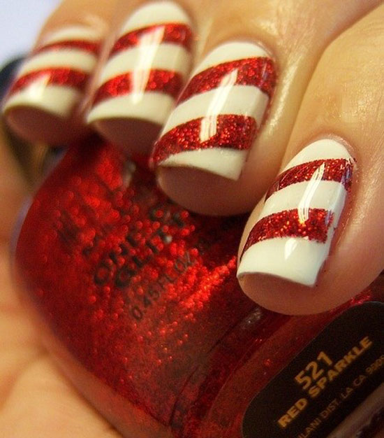 15 Simple Easy Christmas Nail Art Designs Ideas 2012 For Beginners Learners 5 15 Simple & Easy Christmas Nail Art Designs & Ideas 2012 For Beginners & Learners