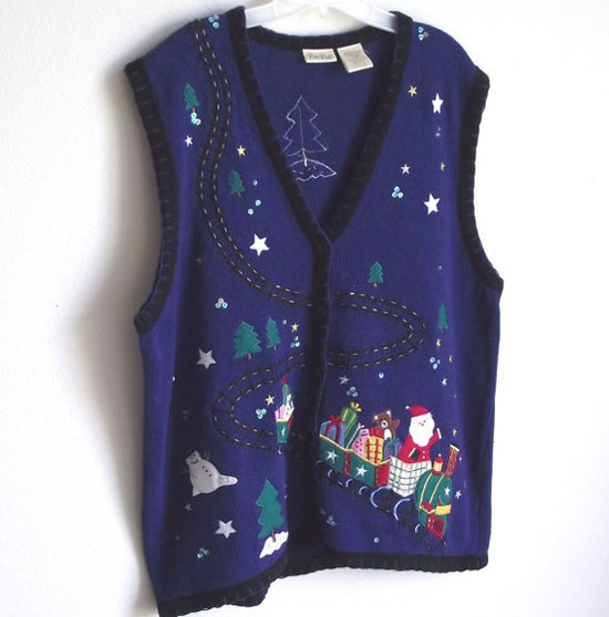 25 Best Ugly Tacky Christmas Sweaters Vest Patterns 2012 For Women 11 25 Best, Ugly & Tacky Christmas Sweaters & Vest Patterns 2012 For Women