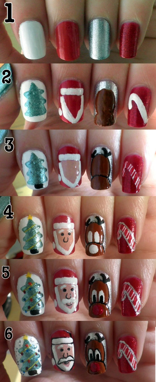 Cute christmas nail designs easy do yourself easy nail art designs cute christmas nail designs easy do yourself best easy simple christmas nail art tutorials for solutioingenieria Image collections