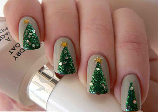 10 Best Easy Simple Christmas Tree Nail Art Designs Ideas Supplies 2012 For Girls 10 10 Best, Easy & Simple Christmas Tree Nail Art Designs, Ideas & Supplies 2012 For Girls