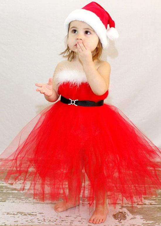 Christmas costumes dresses outfits 2012 for newborn baby girls kids 14