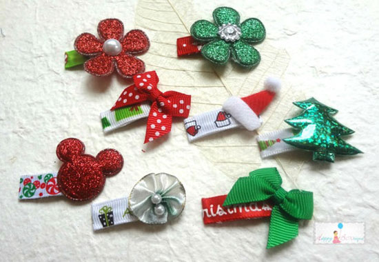Christmas Hair Clips.Christmas Hair Clips The Best Gift For Your Baby Girls