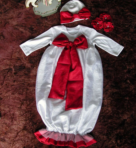 15 Beautiful Cute Christmas Dresses Outfits 2012 For Newborn Baby Girls Kids 6 15 Beautiful & Cute Christmas Dresses & Outfits 2012 For Newborn Baby Girls, Toddlers & Kids