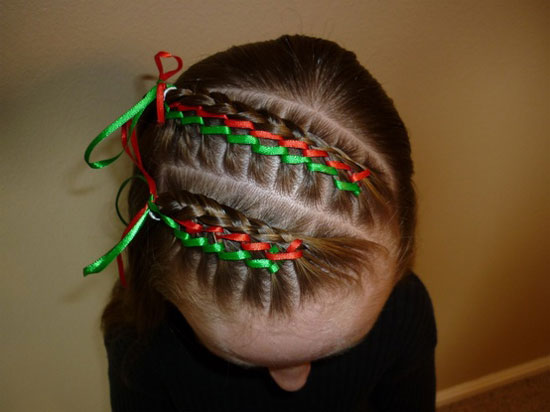 Cute yet crazy christmas tree amp party hairstyles amp ideas 2012 for kids
