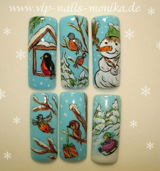 15 Cool Simple Easy Winter Nail Art Designs Ideas 20122013 15 15 Cool, Simple & Easy Winter Nail Art Designs & Ideas 2012/2013