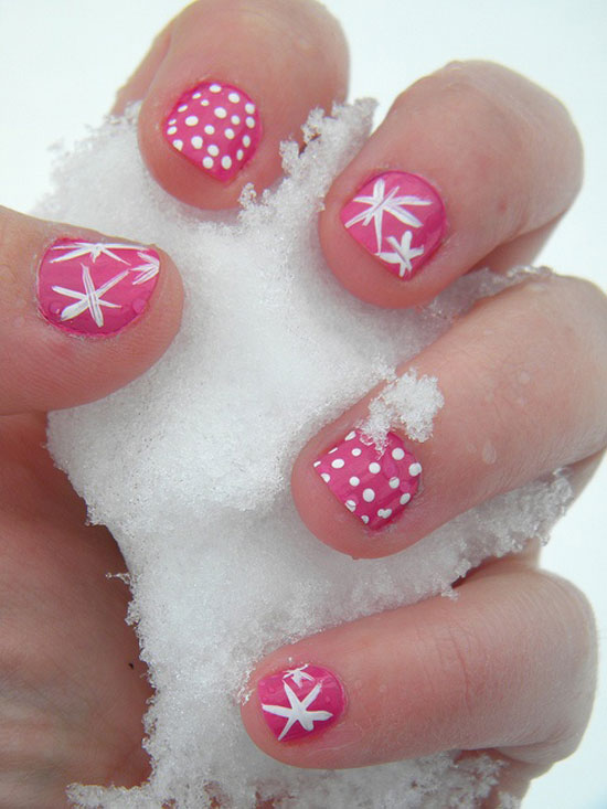 15 cool simple easy winter nail art designs