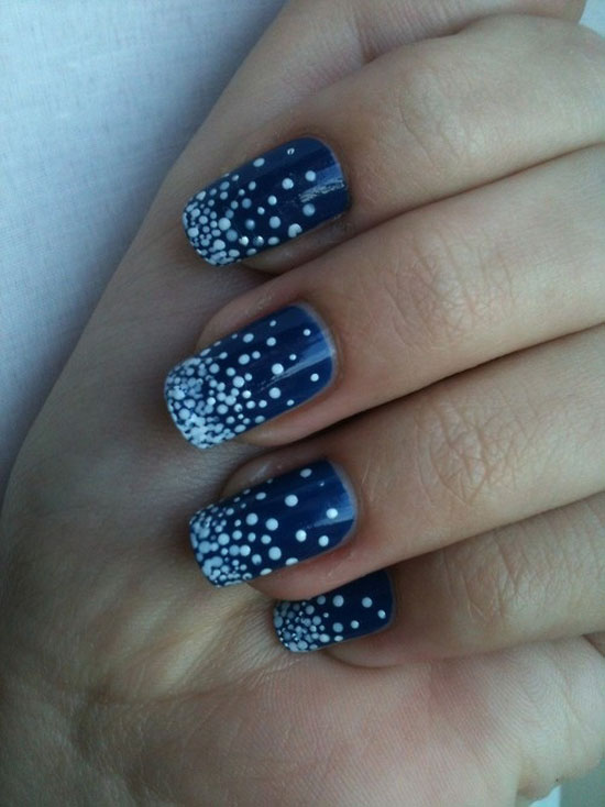 15 Cool Simple Easy Winter Nail Art Designs Ideas 20122013 4 15 Cool, Simple & Easy Winter Nail Art Designs & Ideas 2012/2013