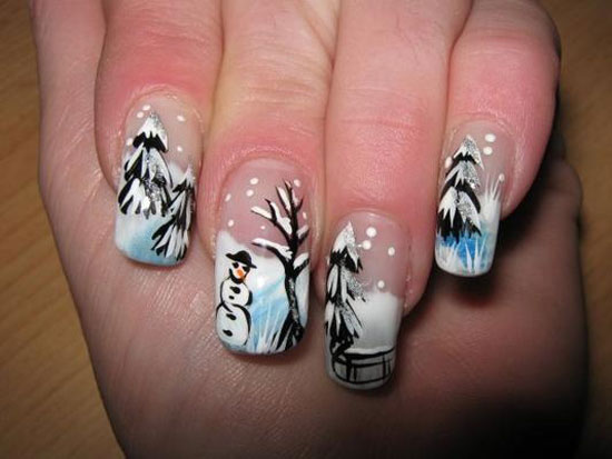 15 cute inspiring winter nail art designs ideas 2012 2013 for girls girlshue. Black Bedroom Furniture Sets. Home Design Ideas