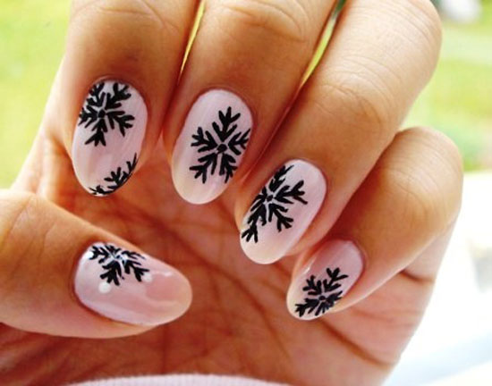 Media Source - Nail Designs That Take You To A Winter Wonderland - Black And