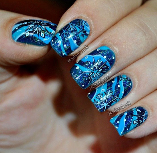 easy winter snowflake nail art ideas amp designs 20122013 for girls - Nail Design Ideas 2012