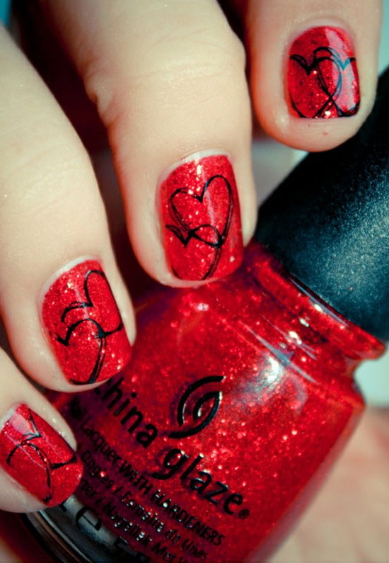 15 Best Valentines Day Nail Art Ideas Designs 2013 For Girls 1 15 Best Valentines Day Nail Art Ideas & Designs 2013 For Girls