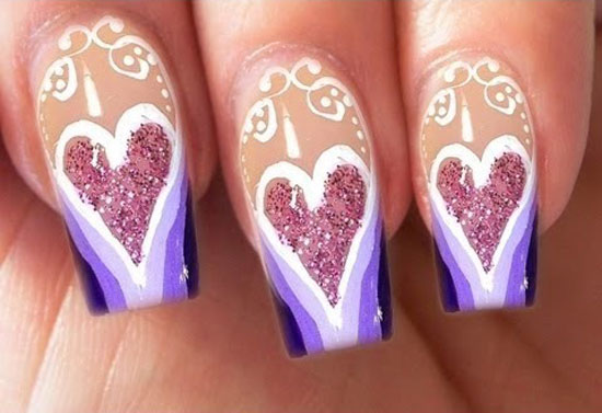 15 Best Valentines Day Nail Art Ideas Designs 2013 For Girls 13 15 Best Valentines Day Nail Art Ideas & Designs 2013 For Girls