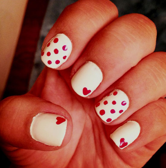 Very Best Valentine's Day Nail Designs for Girls 550 x 556 · 52 kB · jpeg