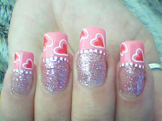 15 Best Valentines Day Nail Art Ideas Designs 2013 For Girls 15 15 Best Valentines Day Nail Art Ideas & Designs 2013 For Girls