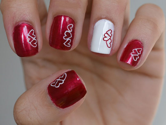 15 Best Valentines Day Nail Art Ideas Designs 2013 For Girls 8 15 Best Valentines Day Nail Art Ideas & Designs 2013 For Girls