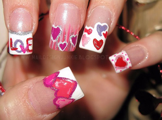 15 Best Valentines Day Nail Art Ideas Designs 2013 For Girls 9 15 Best Valentines Day Nail Art Ideas & Designs 2013 For Girls