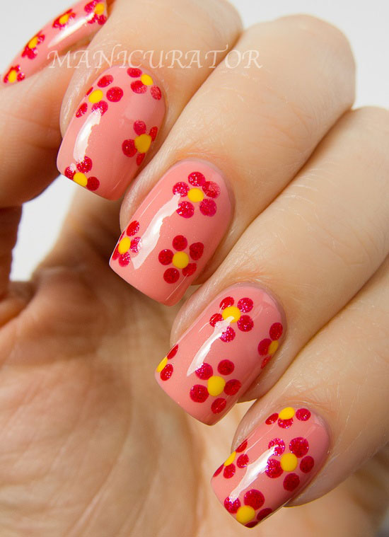 15-Easy-Simple-Spring-Flower-Nail-Art-Designs- - Easy Ideas Nail - Amazing Nails
