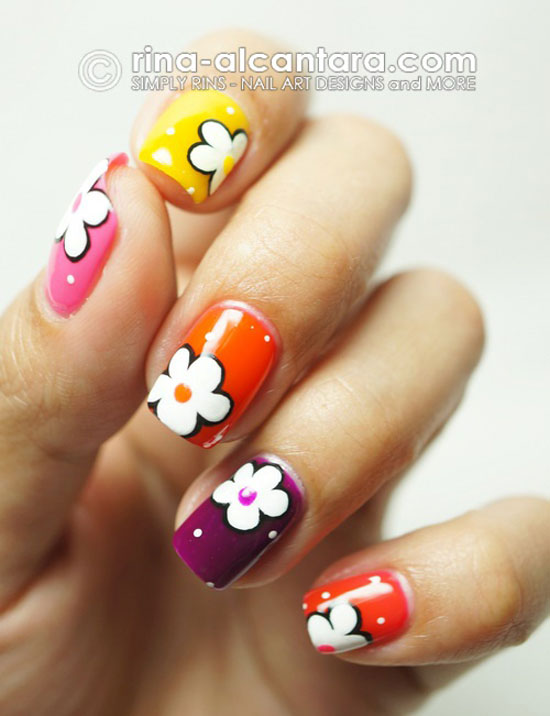 15 easy amp simple spring flower nail art designstrends