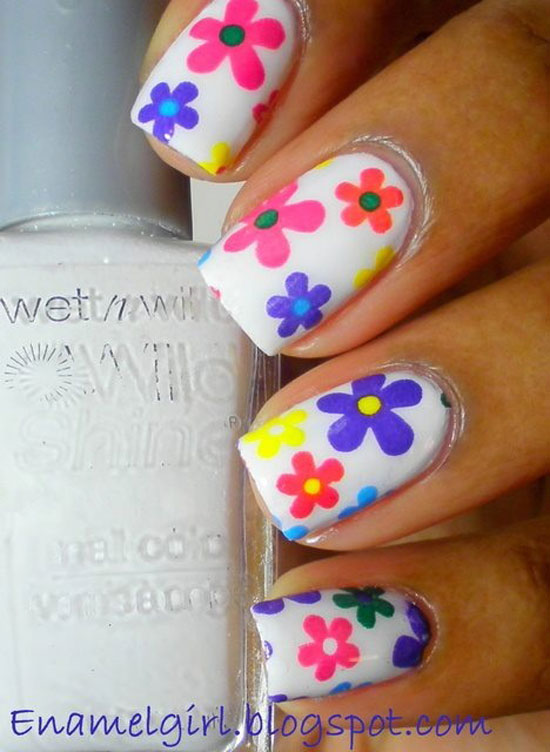 15 easy simple spring flower nail art designs trends