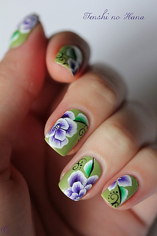 15 inspiring spring flower nail art designs trends ideas 2013 for