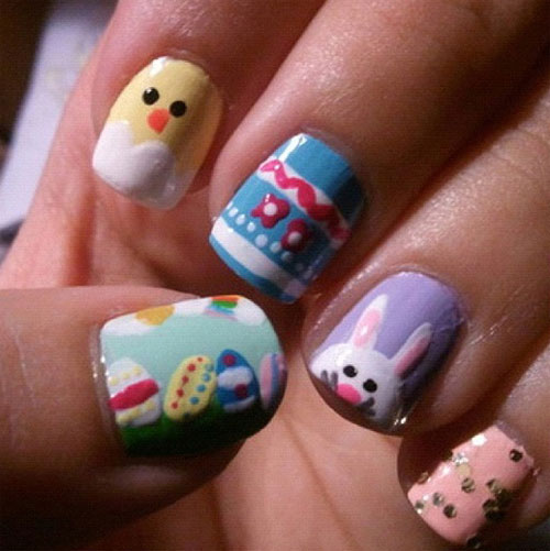 15 Inspiring Amazing Easter Nail Art Designs Ideas For Girls 2013 7 15 ...