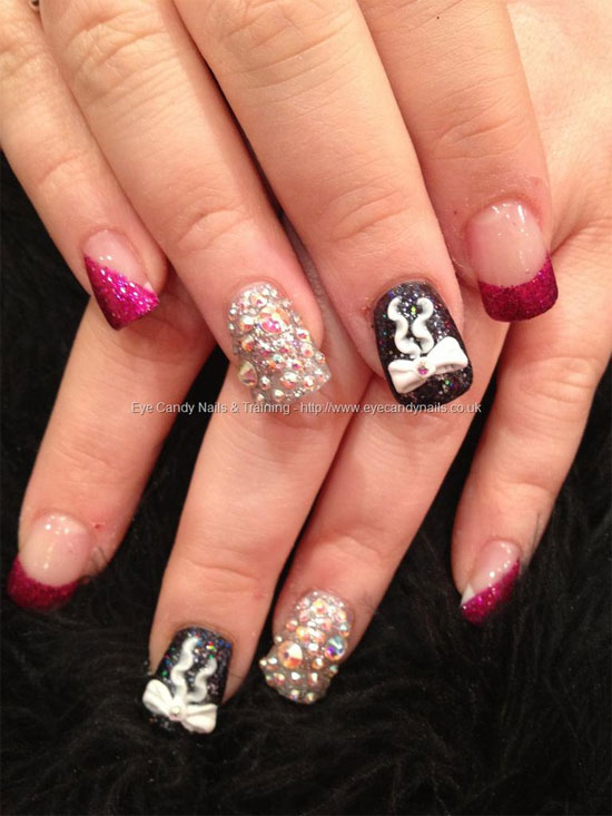 The Astounding Acrylic transparant nails crazy designs Photo