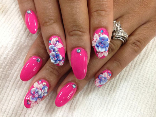 Best Nail Art Design: 15 + Best 3D Acrylic Nail Art Designs & Ideas 2013 For
