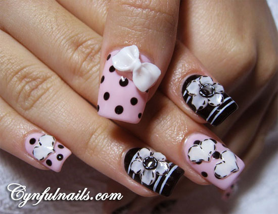 15 Best 3D Acrylic Nail Art Designs Ideas 2013 For Girls 41 15 + Best ...