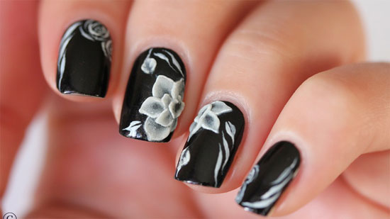 15 Best Black Acrylic Nail Art