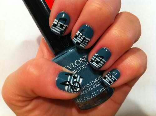 15 Best Short Acrylic Nail Art Designs Ideas For Girls 2013 6 15 Best Short Acrylic Nail Art Designs & Ideas For Girls 2013