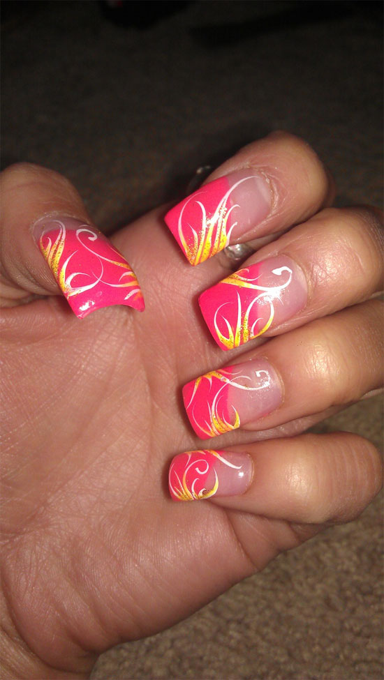 15 Inspiring Acrylic Nail Art Designs & Ideas For Girls 2013