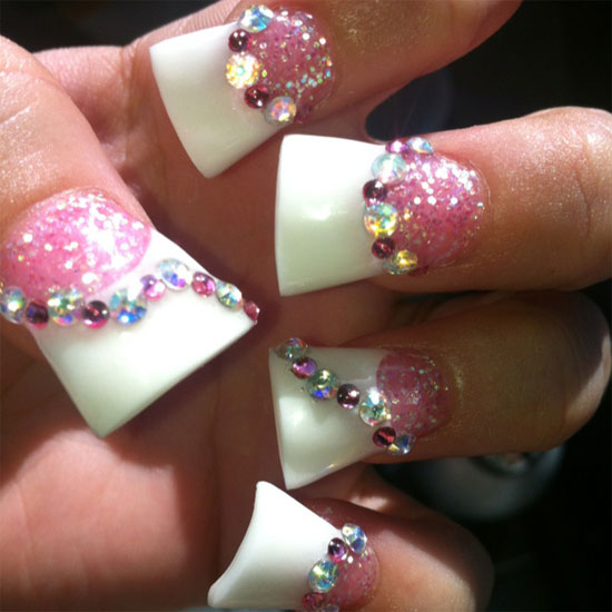 Acrylic nail designs rhinestones luxury nails beautiful acrylic view images gallery for gt simple acrylic nail prinsesfo Gallery