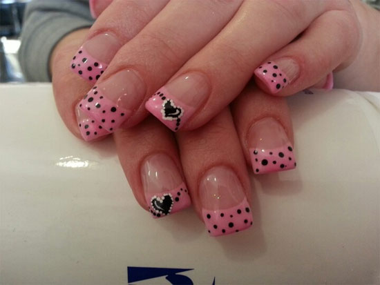 15 Simple Yet Elegant Pink Acrylic Nail Art Designs & Ideas 2013