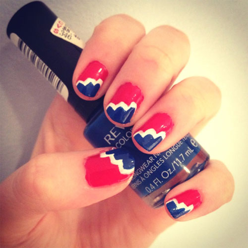 Nail art design for july 4 top july th nail art design best top july th nail art design best simple home manicure for summer view images prinsesfo Choice Image