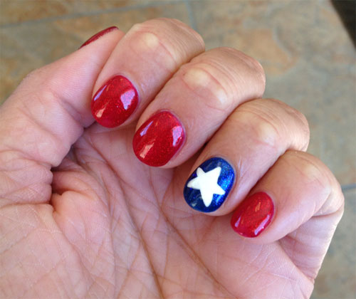 15 Awesome 4th Of July Nail Art Designs & Ideas 2013 | Girlshue