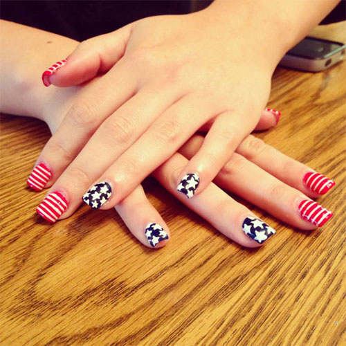 15 easy cool fourth of july american flag nail designs 4th of july 2013 girlshue. Black Bedroom Furniture Sets. Home Design Ideas