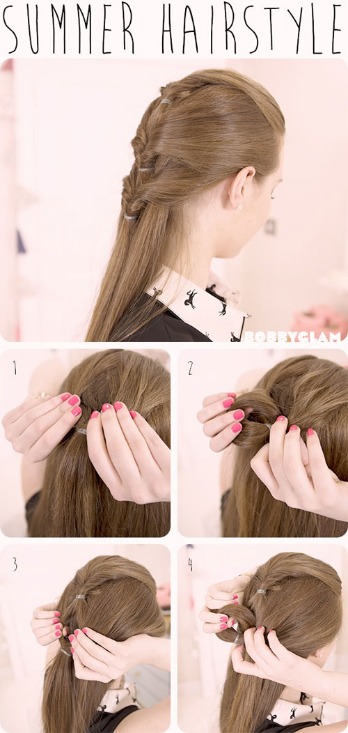 Summer Hairstyle How To : Easy inspiring summer hairstyle tutorials for girls