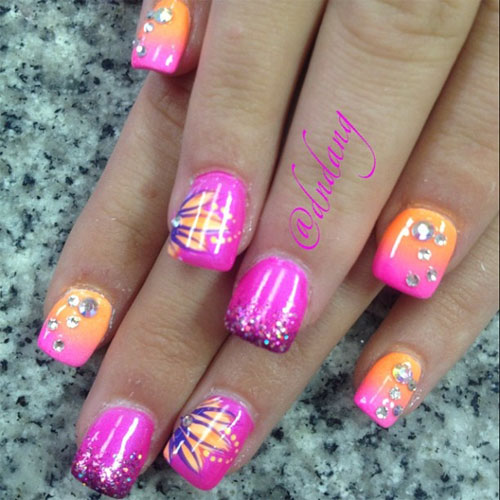 Girl Nail Amazing Summer Nail Art Designs Ideas For Girls
