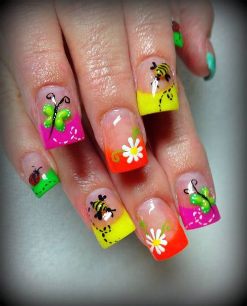 Best Summer Acrylic Nail Art Design Ideas For 2016: Amazing Summer Nail Art Designs & Ideas For Girls 2013