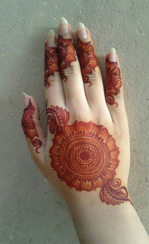 Stylish peacock round tikki mehndi designs collection - Latest Mehndi Designs For Hands 2014 9 Car Tuning