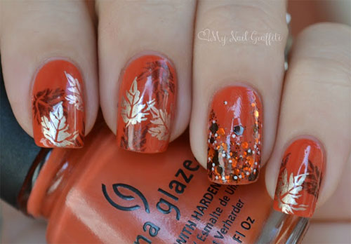Latest Autumn Nail Art Designs Trends Fashion For Girls 2013 2014 1 ...