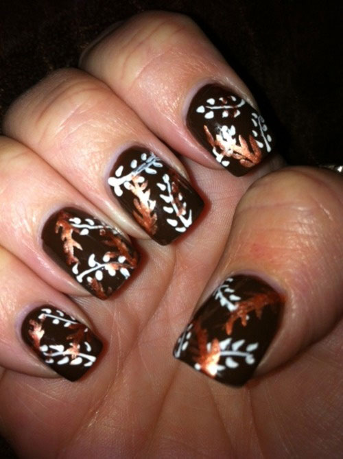 Latest Autumn Nail Art Designs, Trends & Fashion For Girls 2013/ 2014